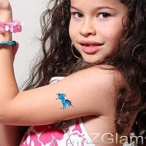 Juego de plantillas para tatuajes temporales Cuentos de Hadas - Tatuajes de purpurina y body art de GlitZGlam
