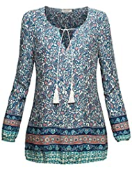 BAISHENGGT Mujer Blusa Top Camiseta con Estampado
