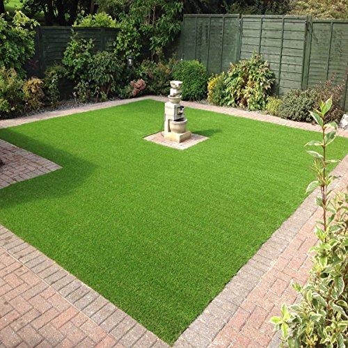 Sti prato sintetico 40mm finta erba tappeto manto giardino 4 sfumature colore 2x10 - Erba finta per giardino ...