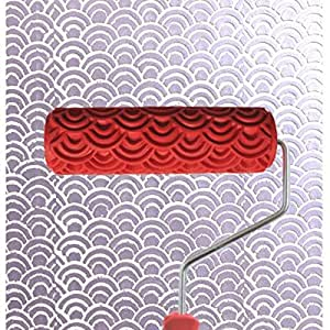 7 inch rouleau de peinture gaufr avec poign e en plastique pour d coration murale motif chelle. Black Bedroom Furniture Sets. Home Design Ideas