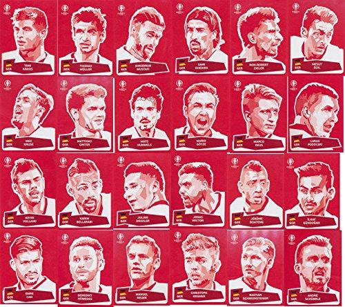 Panini UEFA EURO 2016 France - Komplettsatz Coca Cola - Sticker 1-24