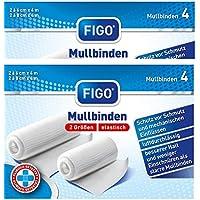 8 elastische Mullbinden Fixierbinde Bandage in 2 Größen 4 x 6cm + 4 x 8cm x 4m preisvergleich bei billige-tabletten.eu