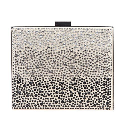 Bonjanvye Fashion Diamonds Purses and Handbags for Women Evening Bags Clutch Apricot - Clutch Bag Apricot
