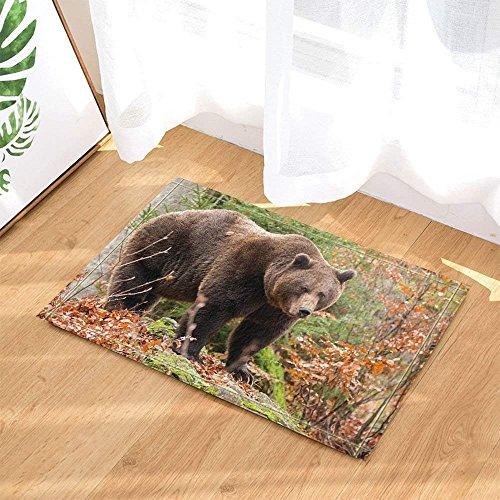 BuEnn Wildtiere, Wildtiere, Wildtiere aus dem Wald, Rutschfest, für Fußboden, für Kinder, Mat...