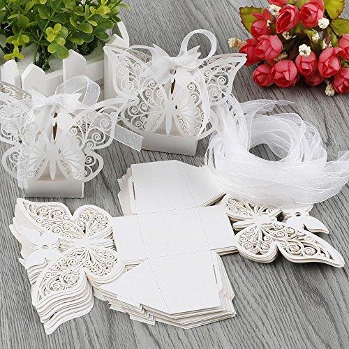 Yahee set di 20 pezzi di bomboniere per matrimonio con design di farfalla.