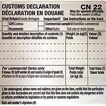 Royal Mail Lot de 250 étiquettes autocollantes avec formulaire postal CN22 pour déclaration en douane