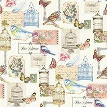 muriva papel pintado lujoso con jaulas de pjaro pjaros mariposas flores y tarjetas postales