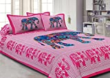 Jaipuri haat Printed Cotton Double Bedsh...