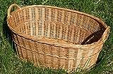 Wäschekorb Wäschebox Weide BKM verschiedene Varianten zur Auswahl (BKM005 - oval 1)
