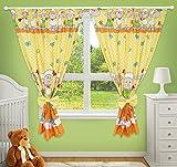 Tolle Deko-Vorhänge für Kinderzimmer, gelb mit Schafmotiv
