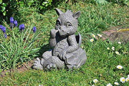 MystiCalls Süsser Gartendrache! Bohrt in der Nase! Garten! Figur! Dekoration!