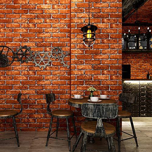 Gute Hauptdekoration Faux Brick Printed Stick Papier einfach zu kleben rot 53x1000cm -