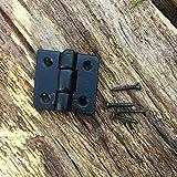 Antikas - Klappen Scharnier schwarz beschichtet Top-Qualität sehr stabil- Antik-Beschläge
