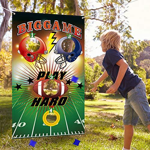 n Spiele mit 3 Stücke Sitzsack, Lustiges Indoor und Outdoor Werfen Spiele für Kinder und Erwachsene, Großartig Fußball Thema Party Dekorationen und Lieferungen ()
