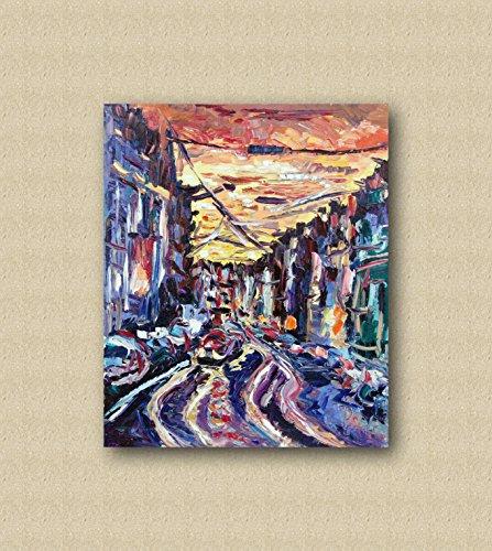 Quadro Da Salotto.Quadro In Tela Da Arredamento Moderno Contemporaneo Da Salotto Dipinti Astratti E Originali Come Gli Impressionisti Fatti A Mano Con Olio Su Tela