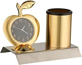 Tiamo Apple Designed Gold Multiuse Clock and Penstand for Gifts