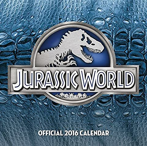 Calendrier Chinois 2016 - The Official Jurassic World 2016 Square
