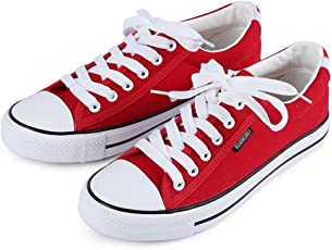 Zorbes Paired Women Breathable Classic Canvas Shoes Low-top Skateboarding Sneakers