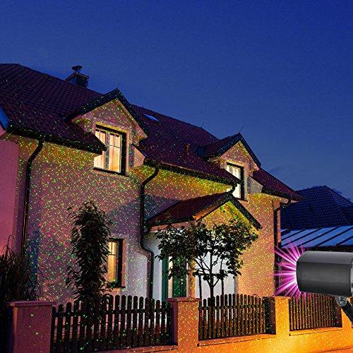 Colleer LED Projektionslampe, Lichteffekt mit Schutzart IP65 für Innen und Außen, Beleuchtung als Gartenleuchte Projektor, Mauer Dekoration, Party Licht, Gartenlicht, Festen, Weihnachten (Sternen)