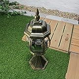 Außen-Sockelleuchte Weglampe Brest in antik E27 bis 60W IP23 Wetterschutz Wegeleuchte Außen-Leuchte Pfeiler-Lampe - 3