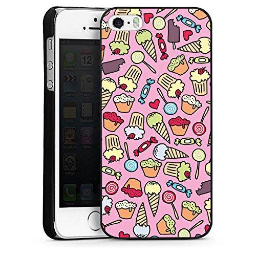 Apple iPhone 4 Housse Étui Silicone Coque Protection Des sucreries partout Sucré Sucrerie CasDur noir