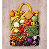 PB Photo Of Fruits & Vegetables Canvas Painting 6mm Thick MDF Frame 20 X 21.8inch