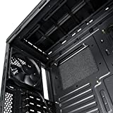 anidees AI-06BS-V2 Midi Tower Aluminium PC Gaming Gehäuse schwarz Silent gedämmt mit SD kartenleser Fan Controller