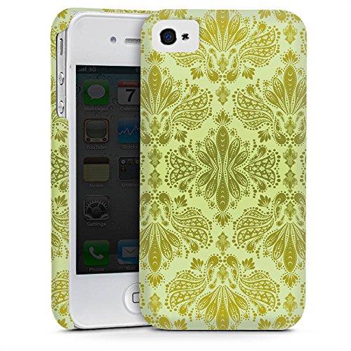 Apple iPhone 4 Housse Étui Silicone Coque Protection Ornements Motif Motif Cas Premium mat