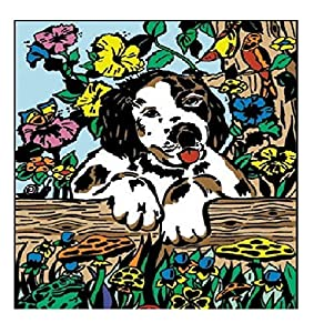 Colorvelvet 37x 28cm Perro Sistema de Dibujo para Colorear (tamaño Mediano