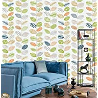 DWIND D1401 Peel & Stick Leaf Wallpaper Self Adhesive Contact Paper For Furniture Kitchen Countertop Table Door DIY Chalkboard 17.7inch X 118inch