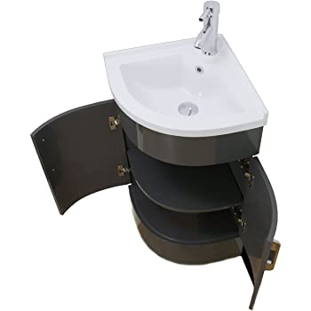 Klara Bathroom Vanity Unit Cabinet Basin Sink Corner Cloakroom Floor