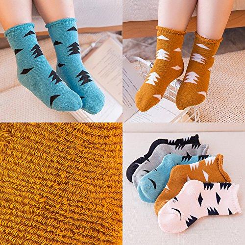 s Baby Socken Socken Socken Dicke Warme Winter Baby Mädchen Und Jungen In Der Tube Stock Socken (5 Paar) Im Alter Von 5-7 Grove (Neugeborene Jungen Tube-socken)