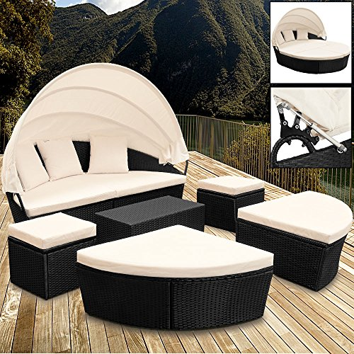 Deuba Poly Rattan Sonneninsel 226cm Oval