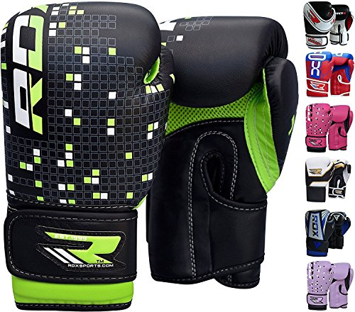 RDX-Maya-Hide-Leather-4oz-6oz-Kids-Boxing-Gloves-Junior-Punch-Bag-MMA-Training-Muay-Thai-Mitts