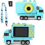 Ukuu Barnkamera leksak inbyggt 32 GB SD-kort 1080P HD digital kamera med 2,0-tums stor skärm USB uppladdningsbar selfie-kamer
