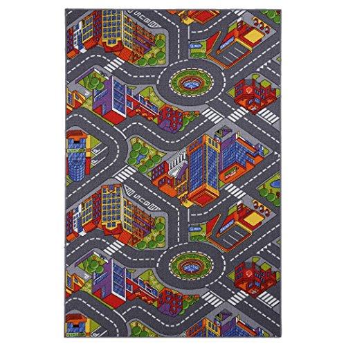 Tappeto bambino di Design Appiano 100x165cm in poliammide, tappeto modello bambino 100 x 165 cm in poliammide, tessitura 1/10 Bouclè, modello multicolore, fondo in 100% lattice antiscivolo