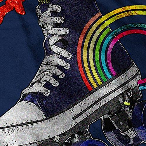 Rollin Disko Alt Mode Regenbogen Schuh Damen Schwarz S-2XL Muskelshirt | Wellcoda Marine