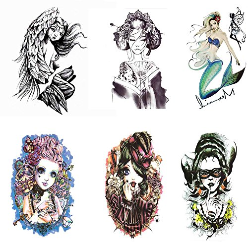 Pinkiou transfer stickers donna tatuaggi temporanei impermeabili