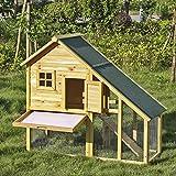 iKayaa Kleintierstall Kaninchenstall Hasenstall Hühnerhaus Hühnerstall Meerschweinchenstall