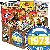 Original seit 1978 | DDR Geschenk | DDR Süßigkeitenbox mit Othello Keks Wikana, Brausepulver, DDR Schokoladen Geldschein und vielem mehr