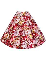 Lindy Bop 'Peggy' De Cru Floral Style Plein Cercle Jupe de 50