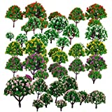 Segolike 50pcs Model Tree Model Train Park Trees for HO Scale Scenery 1:75-500 Layout