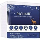 RICHAIR - Protège Matelas 120 x 190/200 Imperméable Bonnet 30cm - Alèse Silencieux et Ultra Absorbant - Hypoallergénique, Ant