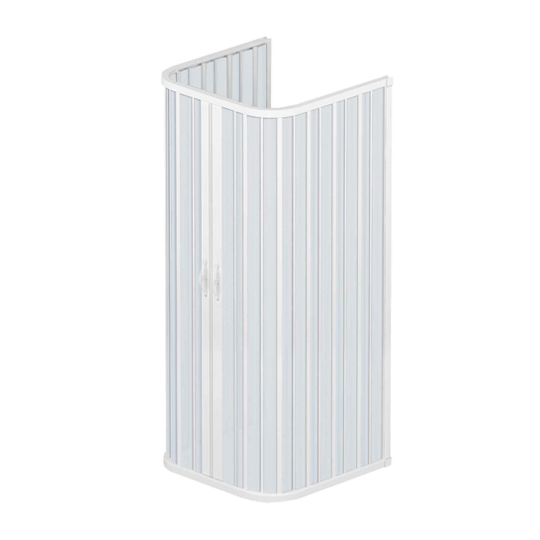 cabine paroi de douche 3 c t s en plastique pvc mod ariete avec ouverture centrale inspid co. Black Bedroom Furniture Sets. Home Design Ideas