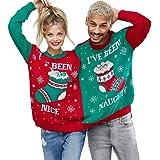 VEMOW 2018 Weihnachtstag Zwei Person h/ässliche Pullover Weihnachten Paare Pullover Neuheit Weihnachten Mode einzigartige warme Bluse Top Shirt Sweatershirt