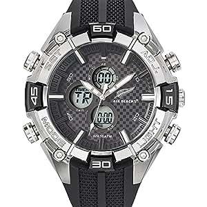 All Blacks - 680225 - Montre Homme - Quartz Analogique - Digital - Cadran Noir - Bracelet Plastique Noir