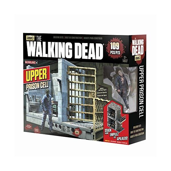 AMC The Walking Dead MC Farlane - Superior Célula de la prisión 14607 - 96 Piezas Cárcel célula con 2 Figuras 2
