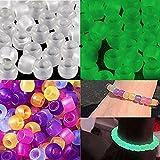 Goodlucky365 500pcs Uv Abalorios Perla Ultravioleta Cuentas Perlas Reactiva del Potro de Plástico Para Hacer Pulseras-Puede Cambiar El Color Bajo La Luz del Sol También Brilla En La Oscuridad