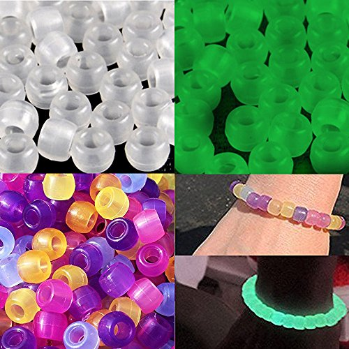 61VOYsloAvL Goodlucky365 500 Uv Multi Color Changing Reactive Plastic Pony Beads   Also Glows in the Dark by Goodlucky365 UK best buy Review