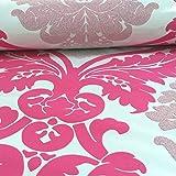 AS Creation Damask Muster Tapete Blumen Blätter Geprägt Glitzer Motiv - Rosa Weiß 313935
